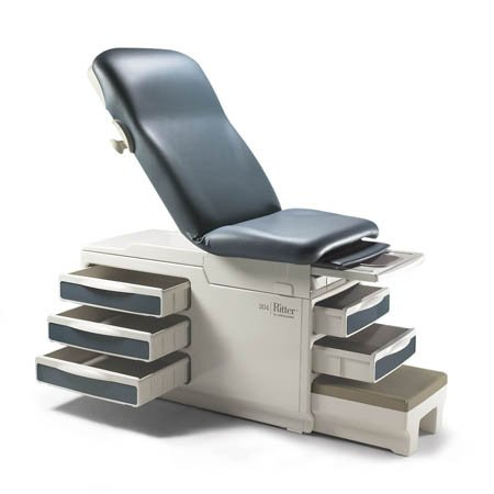 Midmark Ritter 204 Manual Exam Table W/ Pelvic Tilt/drawer Heater Clay - Model 204-002-234 - Each ()