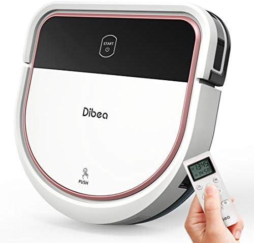 Dibea Aspirateur Robot Laveur de sol Sucer Essuyer 2 in 1 3 Vitesses 110 Minutes 7.5 cm Plat Sols Durs Fonction du Son Charge automatique Poil Animaux D500Pro - Home Robots