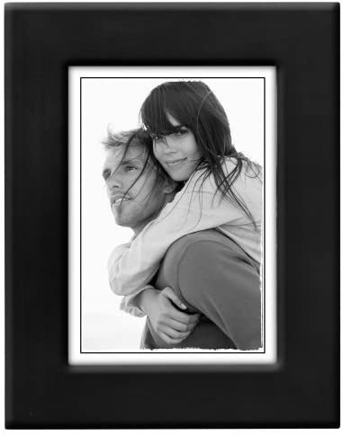 Amazon Com Malden International Designs Wide Linear Wooden Picture Frame 5 By 7 Inch Black By Malden International Designs