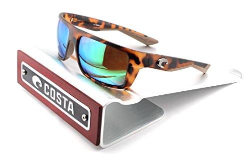 Costa Del Mar Motu 580P Men Sunglasess Matte Retro Tortoise Frame / Green Mirror Lens - Costa 580g Motu