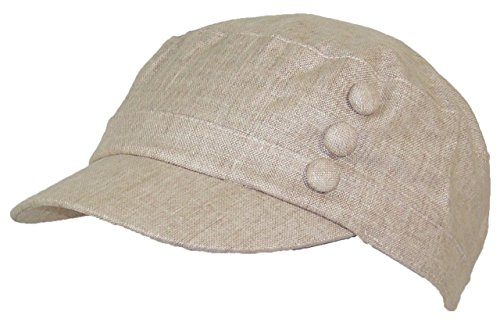 Tropic Hats Women's Tweed Military Cadet 3 Button Hat W/Floral Lining (One Size) - (Military Tweed Hat)