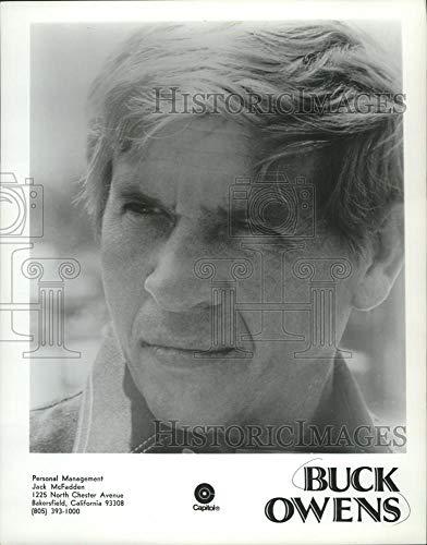 Historic Images - 1972 Vintage Press Photo Singer Buck Owens of the United States. - mjb20910 (Singer Buck Owens)