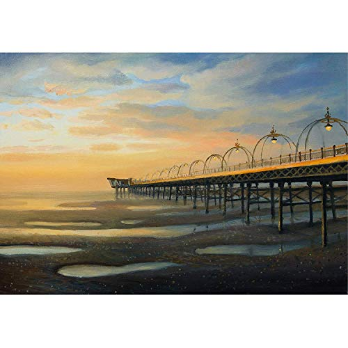 (an Oil Painting on Canvas of One of The Strongest Outflows in The History of Southport in The United Kingdom - Removable Wall Mural | Self-Adhesive Large Wallpaper)