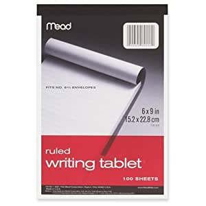Mead 100Ct6x9 Writing Tablet (Pack Of 6) 70102 Paper