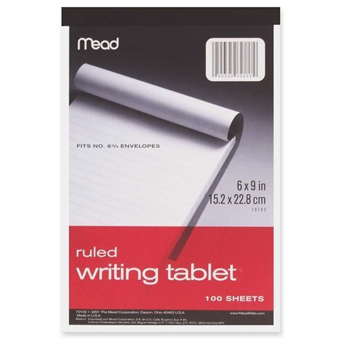 Mead 100Ct6x9 Writing Tablet 70102