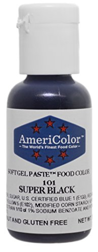 AmeriColor Food Coloring, Super Black Soft Gel Paste.75 -