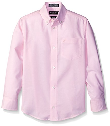 Nautica Boys' Solid Long-Sleeve Button-Down Shirt