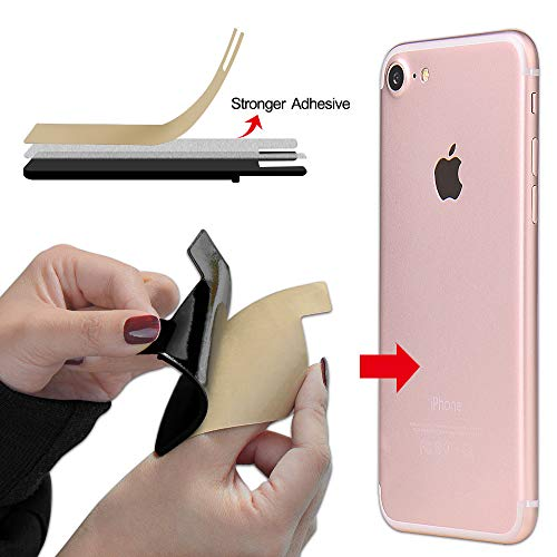SHANSHUI Phone Card Holder, Silicone Adhesive Stick-on ID Credit Card Wallet Phone Case Pouch Sleeve Pocket Compatible…