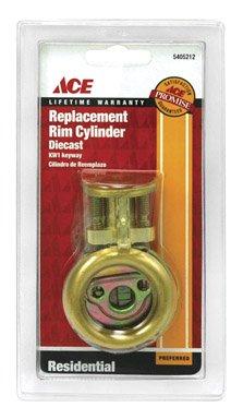 RIM CYLINDER KW1 KD BRS [Misc.] - Ace Rim Cylinder