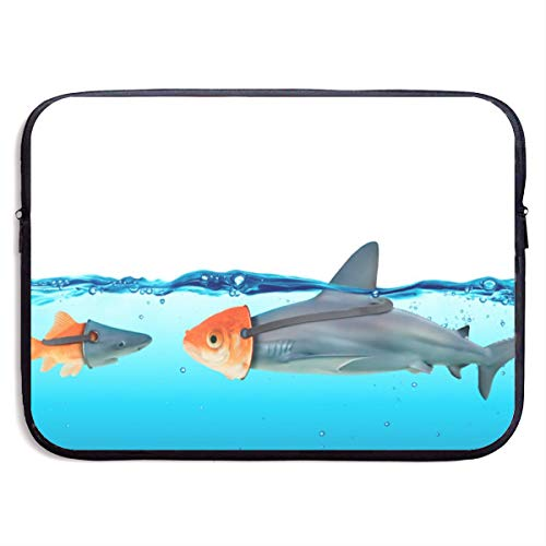 Waterproof Laptop Sleeve 13 Inch, Shark Goldfish Business Briefcase Protective Bag, Computer Case Cover for Ultrabook, MacBook Pro, MacBook Air, Asus, Samsung, Sony, Notebook