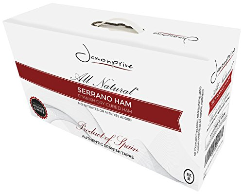 Serrano Ham Bone in from Spain 15-17 lb + Ham Stand + Knife | Cured Spanish Jamon Made with NO Nitrates or Nitrites by Jamonprive (Image #4)