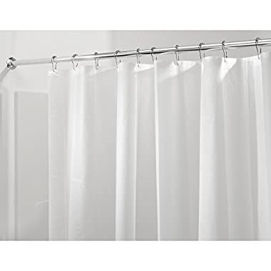 InterDesign Mildew-Free PEVA 3 Gauge Shower Liner, 72 x 72, Frost