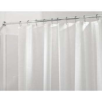 interdesign peva 3 gauge shower curtain liner moldmildew resistant pvc free u2013