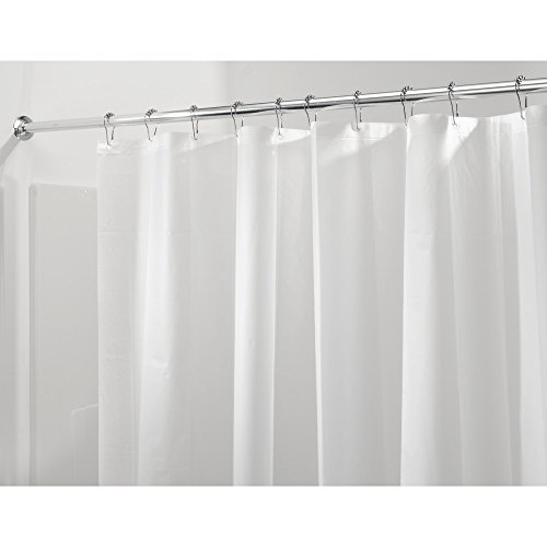 InterDesign PEVA 3 Gauge Shower Curtain Liner - Mold/Mildew Resistant, PVC Free – Frost, 54