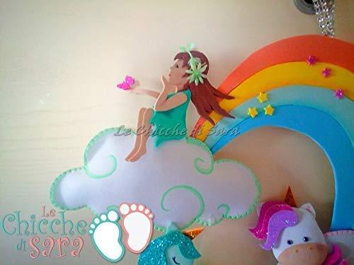 Fiocco Nascita Arcobaleno.Fiocco Nascita Bimbo E Bimba Unicorni Fate Arcobaleno Regalo Nascita Bambino E Bambina Amazon It Handmade