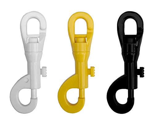 SPRING LOADED PLASTIC CLIP, PLASTIC SNAP, 2PCS SET (YELLOW), CROWD CONTROL CENTER
