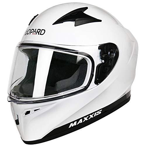61-62cm Leopard LEO-813 Full Face Motorbike Helmet DOT /& ECE 22.05 Approved #06 Red//Blue//White//Black XL