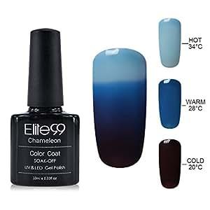 Elite99 UV LED Thermal Temperature Color Changing Gel Nail Polish, 10 ml, 4209