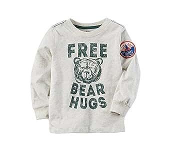 Carter's Baby Boys' Long Sleeve Free Bear Hugs Graphic Tee 12 Months