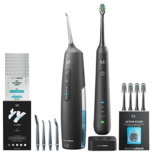 MouthArmor Oral Care Essentials, electric toothbrush and water flosser