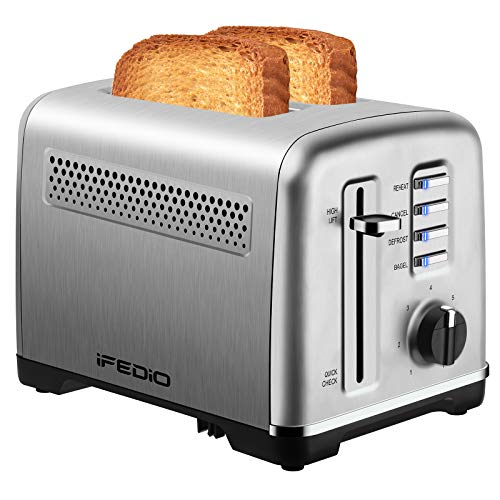 Toaster 2 Slice Best Rated Prime Stainless Steel Toasters with Removable Crumb Tray Two Slice Toaster with Quick Check…