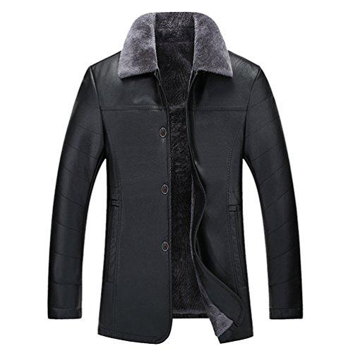 In Foderato Caldo In Cappotto Sottile Giacca Pile Invernale Mens Forma Nero Cappotto Yilianda Denso E A4xUqfn