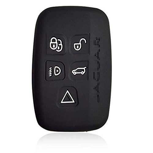 KAWIHEN Silicone Keyless Entry Case Cover Smart Remote Key Fob Cover Protector For Jaguar XF XJ XJL 5 Buttons KOBJTF10A (Just a Cover)