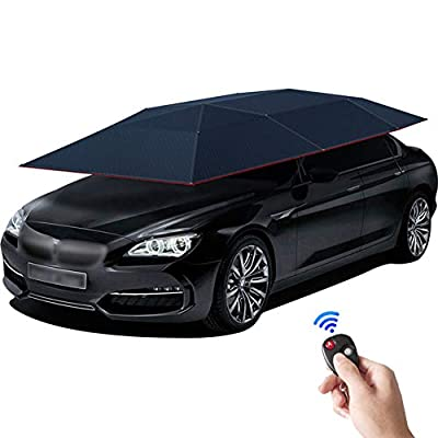 FLBETYY Outdoor Fully Automatic Anti-UV Waterproof Car Camping Sunshade Umbrella Canopy Tent Cover Portable Auto w/Remote Control