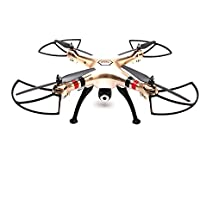 Gold Syma RC Drone FPV WiFi Camera 6-Axis Gyro 2.4Ghz RTR 360-Degree Rotation