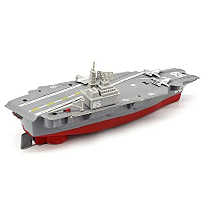 Lanalna Battery Powered Aircraft Carrier Toys with Sound and Light Floating Electric Ship Toy Gift for Kids