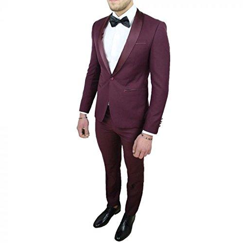 IRMAO - Traje - para Hombre Granate Chaqueta 52 - Pantalones ...