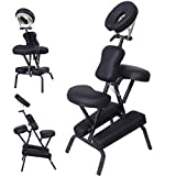 PU Leather Pad Portable Travel Massage Black Tattoo Spa Chair w/...
