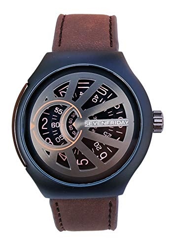 7FRIDAY Analogue Men & Women's Watch (Black Dial Brown Colored Strap) (B07V9PDK6M) Amazon Price History, Amazon Price Tracker
