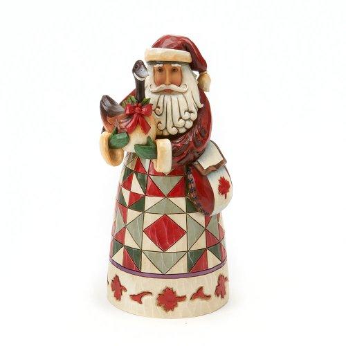 Enesco Jim Shore Heartwood Creek Canadian Santa Figurine, 7.25 Inch, Multicolor ()