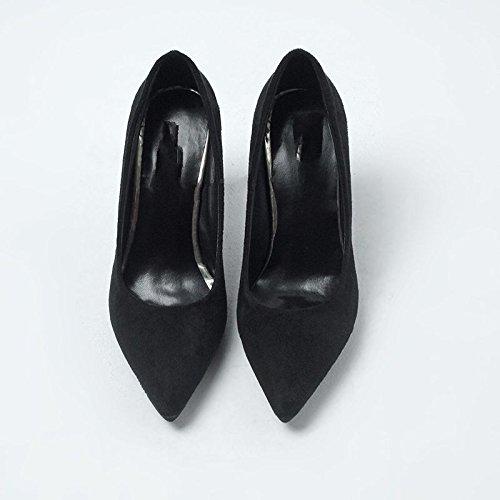 HRCxue Wilde einzelne Schuhe Frauen fein mit stilvollen high-heel Schuhe flache Mund matt Tipp Arbeit Schuhe Frauen Schuhe 35