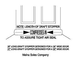 Door Draft, Light, Dust Stopper All Natural Buckwheat, Black - USA Made (2\