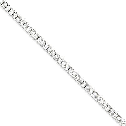 Argent Sterling CZ Bracelet - 7,5 cm-Fermoir-JewelryWeb