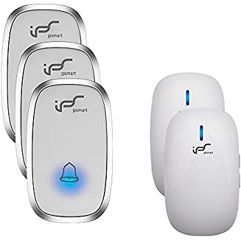 IPS Wireless Doorbell Door Chime Kit Portable Waterproof Push Button Over  900ft Long Range 4