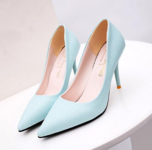 LBDX Versión Profunda Otoño Zapatos Primavera 5 de Delgado de Boca y Poco Coreana Talón Mujer Apuntados Finos Tacones faf1qrCw