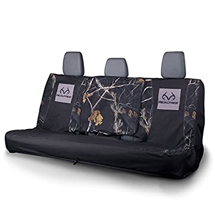 Realtree Seat Cover Full Bench APC Black Camo Pack Of 1