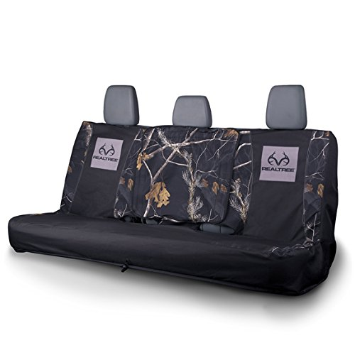 Realtree Black Camo Full-Size Bench Seat Cover - Realtree APC Camo - Durable Microfiber Fabric - Includes One Seat Cover - Sold Individually