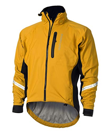 (Showers Pass Waterproof Breathable Men's Elite 2.1 Cycling Jacket (Gold - XX-Large))