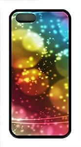 iPhone 5 5S Case Dream circle color TPU Custom iPhone 5 5S Case Cover Black