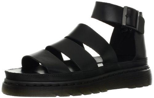 Dr. Martens Women's Clarissa Sandal, black, 8 B UK (10 US) by Dr. Martens