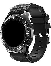 Pulseira Silicone 22mm compatível com Galaxy Watch 3 45mm - Galaxy Watch 46mm - Gear S3 Frontier - Amazfit GTR 47mm - Amazfit GTR 2 - Marca LTIMPORTS (Preto)
