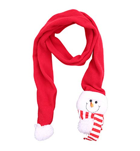 Christmas Scarf Winter Scarf Kids Adults Santa Claus Scarf Decoration (Snowman) (Gifts Snowmen)