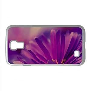 Purple Flower Petals Watercolor style Cover Samsung Galaxy S4 I9500 Case (Flowers Watercolor style Cover Samsung Galaxy S4 I9500 Case)