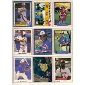 40 Different Montreal Expos Baseball Cards from 1980-1989...