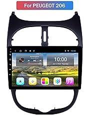 Android Autoradio Radio Dubbel Din Sat Nav voor Peugeot 206 Gps-navigatie 9 Inch Touchscreen Multimediaspeler Video-ontvanger met achteruitrijcamera