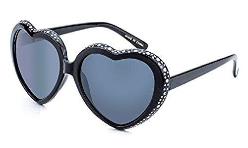 Women's Festival Heart Shaped Rhinestone Sunglasses - Heart Sunglasses Rhinestone